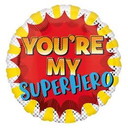 18 inch-es Te Vagy a Szuperhősöm - You're My Superhero Fólia Lufi