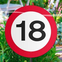 18-as Sebességkorlátozó Születésnapi Parti Kerti Tábla
