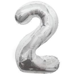 34 inch-es 2 Ezüst - Silver Számos Super Shape Fólia Lufi