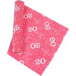 20-as Pink Szülinapi Asztali Futó (37 cm x 5 m)