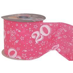 20-as Pink Szülinapi Dekorációs Szalag (12,5 cm x 50 m)