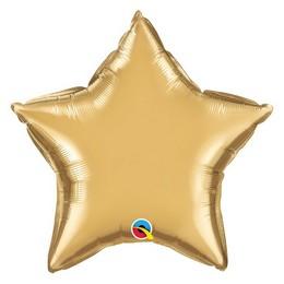 20 inch-es Chrome Arany - Chrome Gold Csillag Fólia Lufi