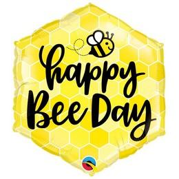 20 inch-es Méhecske Mintás - Happy Bee Day Fólia Lufi