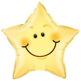 20 inch-es Smile Face Star Fólia Lufi