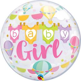 22 inch-es Baby Girl Hot Air Balloons Bubble Lufi Babaszületésre