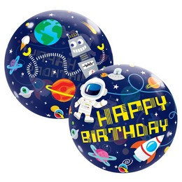 22 inch-es Birthday Outer Space - Űrhajós Szülinapi Bubble Lufi