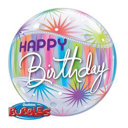 22 inch-es Birthday Sorbet Starburst Szülinapi Bubbles Lufi