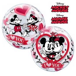 22 inch-es Disney Bubbles Mickey & Minnie I Love You Szerelmes Lufi