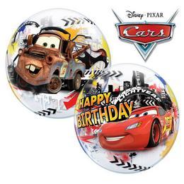 22 inch-es Disney Verdák - Cars Lightning McQueen Birthday Szülinapi Bubbles Lufi