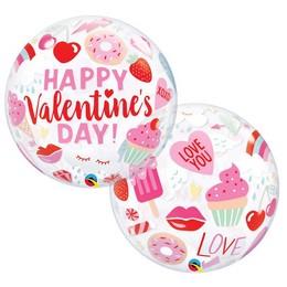 22 inch-es Everythings Valentine's - Valentin-napi Ikonok Bubble Lufi