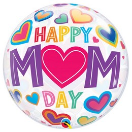 22 inch-es Mom Day Big Hearts Bubble Lufi Anyák Napjára