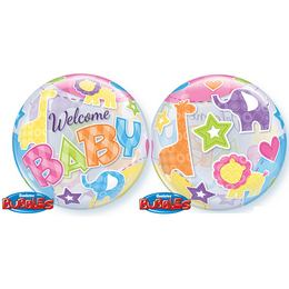 22 inch-es Welcome Baby Animal Patterns Bubbles Lufi
