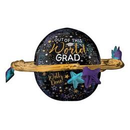 27 inch-es Bolygó Alakú - Out of This World Grad Super Shape Fólia Lufi Ballagásra