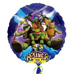 28 inch-es Teenage Mutant Ninja Turtles - Tini Nindzsa Teknősők Éneklő Szülinapi Fóli