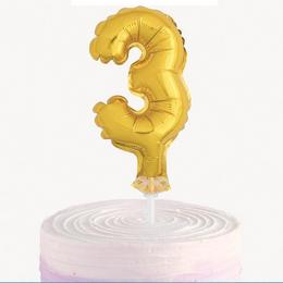 5 inch-es Levegős 3 Arany - Gold Számos Fólia Lufi Tortára