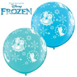 3 feet-es Disney Frozen Anna, Elsa and Olaf-a-rnd Lufi (2 db/csomag)