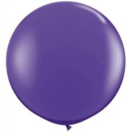 3 feet-es Purple Violet (Fashion) Kerek Latex Lufi (2 db/csomag)