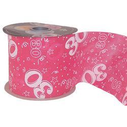 30-as Pink Szülinapi Dekorációs Szalag (12,5 cm x 50 m)