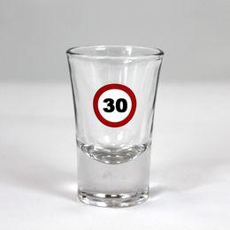 30-as Számos Sebességkorlátozó Szülinapi Feles Üvegpohár