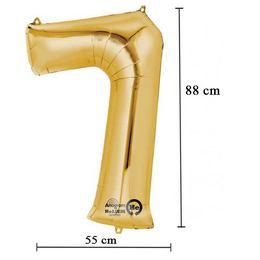 35 inch-es 7 - Arany Számos Super Shape Fólia Lufi