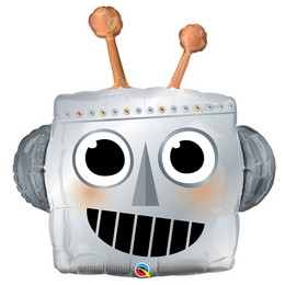 35 inch-es Robot Fej - Robot Head Super Shape Fólia Lufi