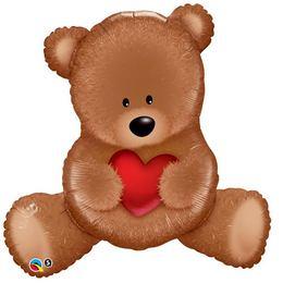 35 inch-es Teddy Bear Szerelmes Fólia Lufi