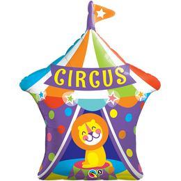 36 inch-es Big Top Circus Lion - Cirkuszi Oroszlán Super Shape Fólia Lufi, 91 cm