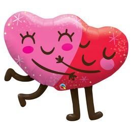 36 inch-es Ölelkező Szívek - Hugging Hearts Super Shape Fólia Lufi