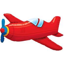 36 inch-es Red Vintage Airplane Fólia Lufi