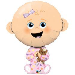 38 inch-es Baby Girl - Kislányos Baba Fólia Lufi Babaszületésre