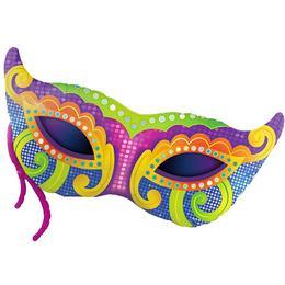 38 inch-es Mardi Gras Mask Super Shape Fólia Lufi