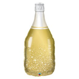 39 inch-es Arany Pezsgősüveg - Golden Bubbly Wine Fólia Lufi
