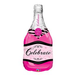 39 inch-es Bottle Celebrate Pink Bubbly Wine Fólia Lufi