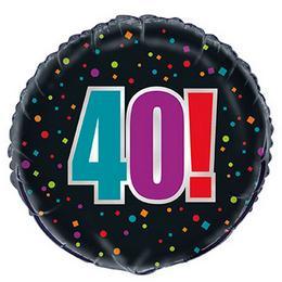 18 inch-es 40-es Birthday Cheer Fólia Lufi Szülinapra