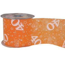 40-es Narancssárga Szülinapi Dekorációs Szalag (12,5 cm x 50 m)