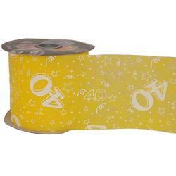 40-es Sárga Szülinapi Dekorációs Szalag (12,5 cm x 50 m)