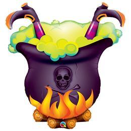 40 inch-es Oopsie Witch's Brew! Halloween Fólia Lufi