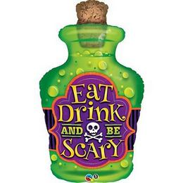 40 inch-es Eat Drink And Be Scary Fólia Lufi Halloween-re