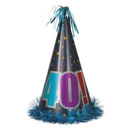 40-es Birthday Cheer Szülinapi Parti Nagy Papír Csákó