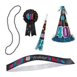 40-es Birthday Cheer Szülinapi Parti Szett - 5 db-os