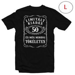 50-es Limitált Kiadás Számos Szülinapi Póló, L-es