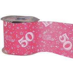50-es Pink Szülinapi Dekorációs Szalag (12,5 cm x 50 m)
