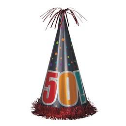 50-es Birthday Cheer Szülinapi Parti Nagy Papír Csákó