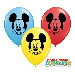 5 inch-es Mikiegér Arc - Mickey Mouse Face Special Assortment Lufi (100 db/csomag)