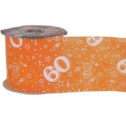 60-as Narancssárga Szülinapi Dekorációs Szalag (12,5 cm x 50 m)