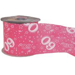 60-as Pink Szülinapi Dekorációs Szalag (12,5 cm x 50 m)