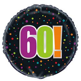 18 inch-es 60-as Birthday Cheer Fólia Lufi Szülinapra