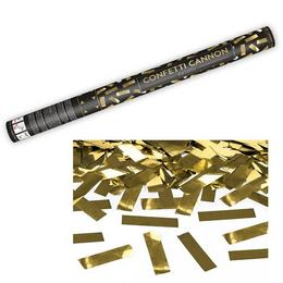 60 cm-es, Arany Téglalapokat Kilövő Konfetti Ágyú
