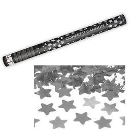 60 cm-es, Ezüst Csillagokat Kilövő Konfetti Ágyú