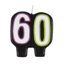 60-as Birthday Cheer Szülinapi Parti Számgyertya